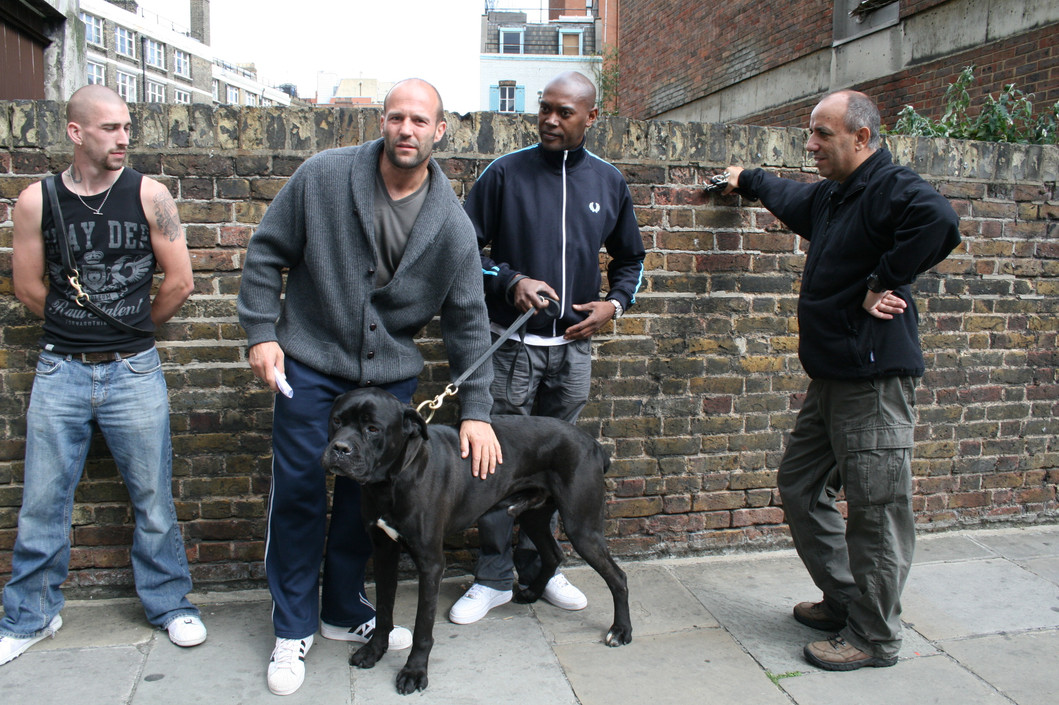 With Jason Statham Robb and Sonny, the last days shoot on BLITZ