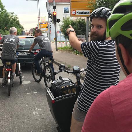 6. CDU Streifzug - Einkaufen in Marbach mit dem Lastenrad?!
