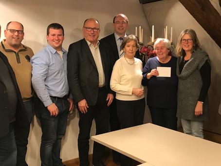 CDU Fraktion spendet zum Jahresende für die Marbacher Tafel