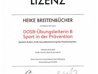 DOSB Übungsleiterin B - Sport in der Prävention - Rudern