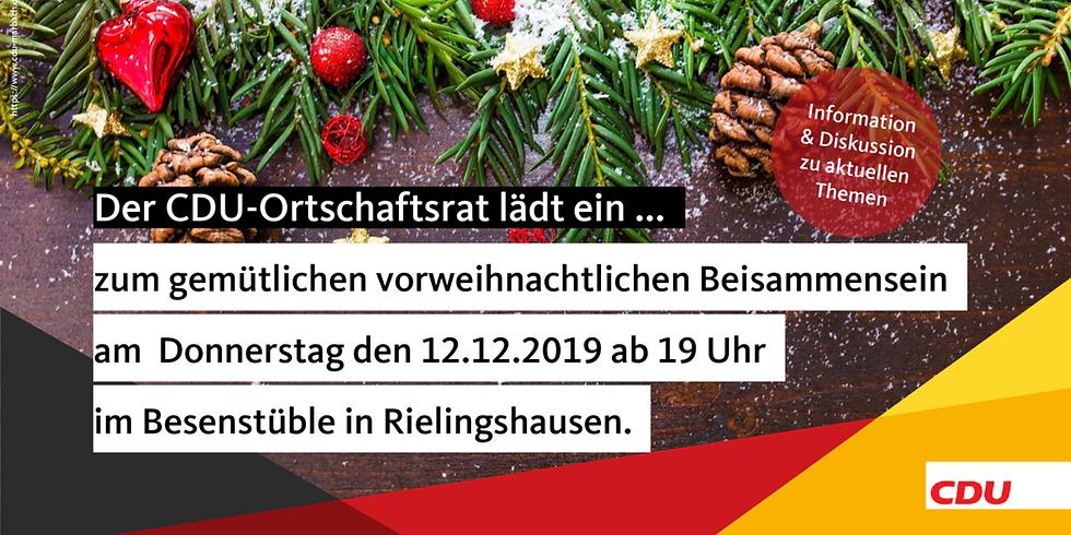 Die CDU Ortschaftsratsfraktion Rielingshausen lädt zum vorweihnachtlichen Treffen
