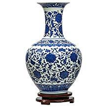 vase chinois horloge penchee brocante ca