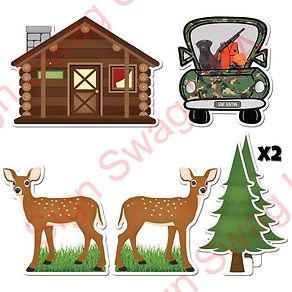 hunting yard card sign