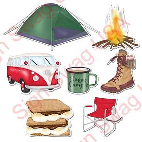 camping yard card sign