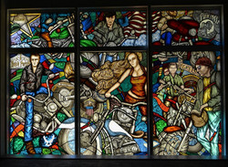 Motor cycle stained glass