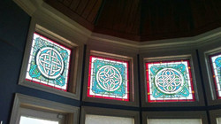 Celtic stained glass, Athens TN