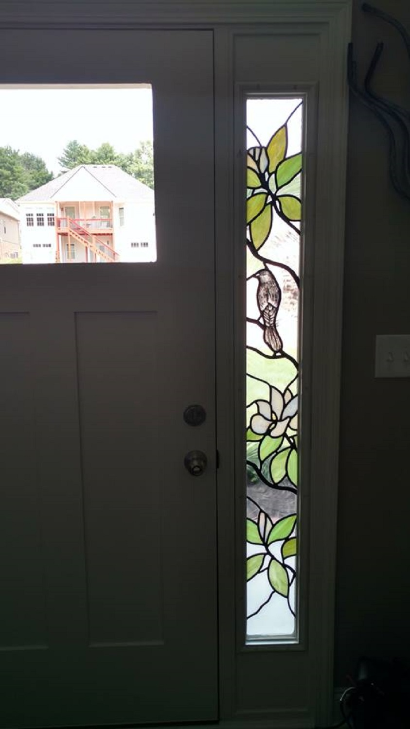 Stained glass entry door