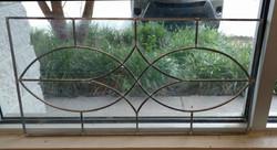 Leaded glass cabinet door