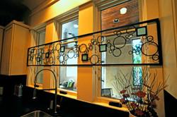 Custom iron work with glass