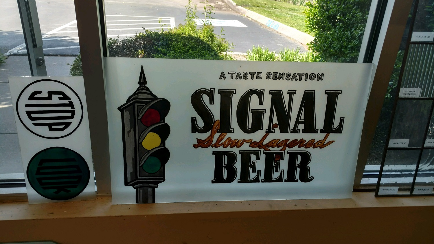 Signal Beer sign repair