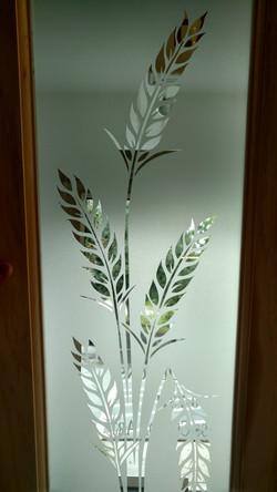 Sandblasted glass wheat