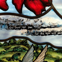 Painted stained glass - detail