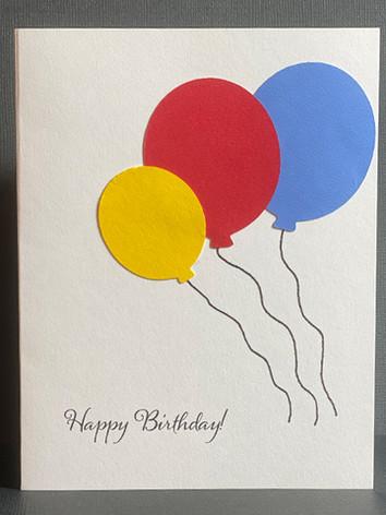 Happy Birthday Multicolor Balloons