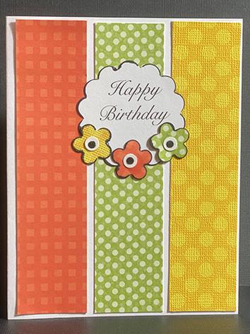 Happy Birthday Flowers (Yellow, Orange, Green)