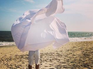 beach sheet and beach towels