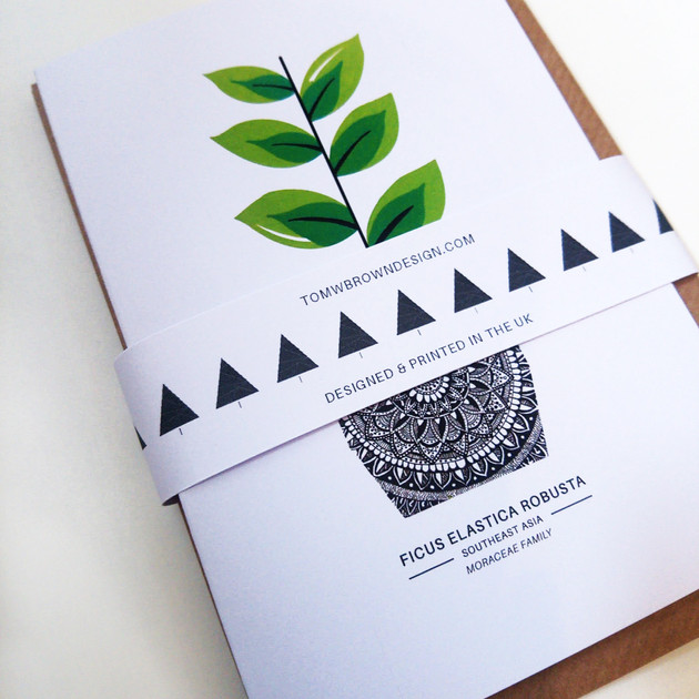 Pack of 5 Plant Cards