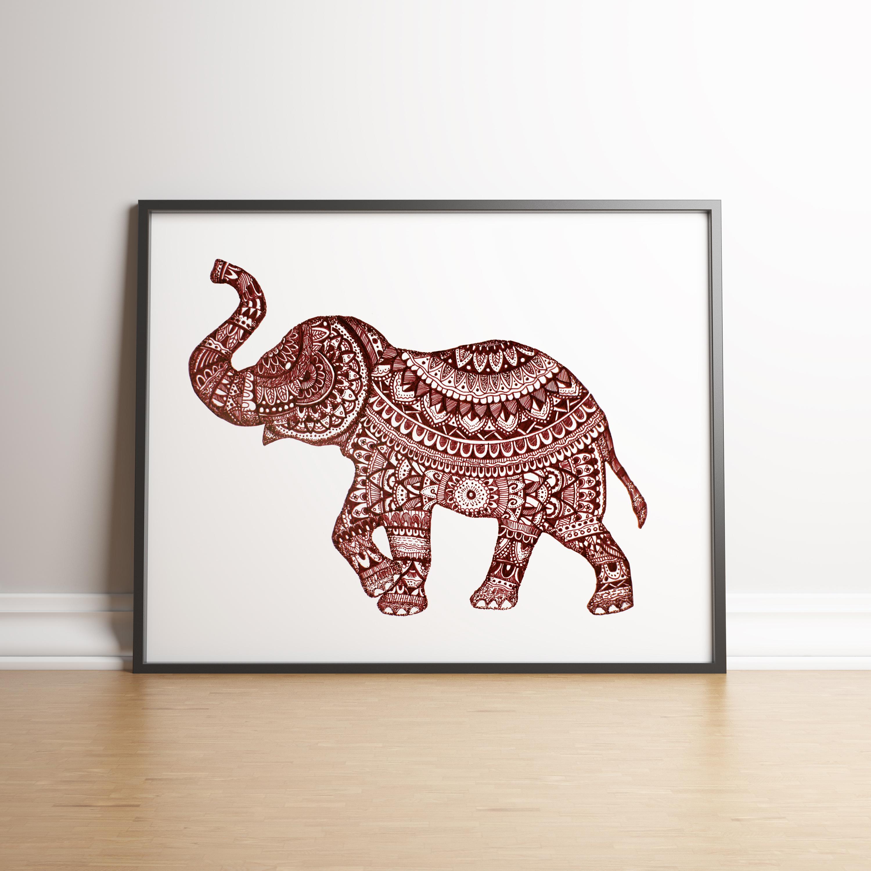 Elephant red in situ
