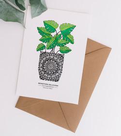 Card & Envelope Monstera