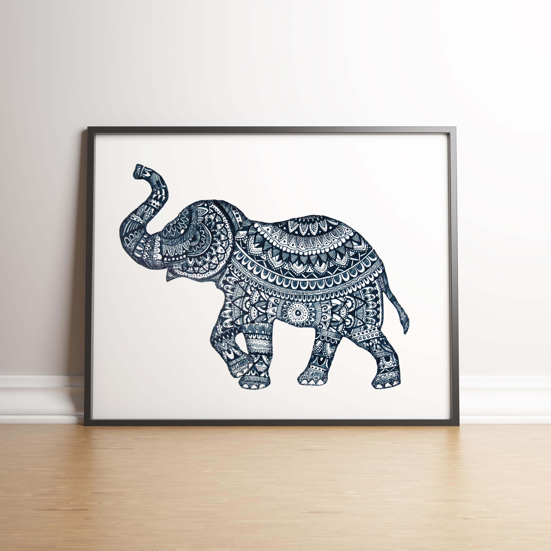 Elephant bluein situ