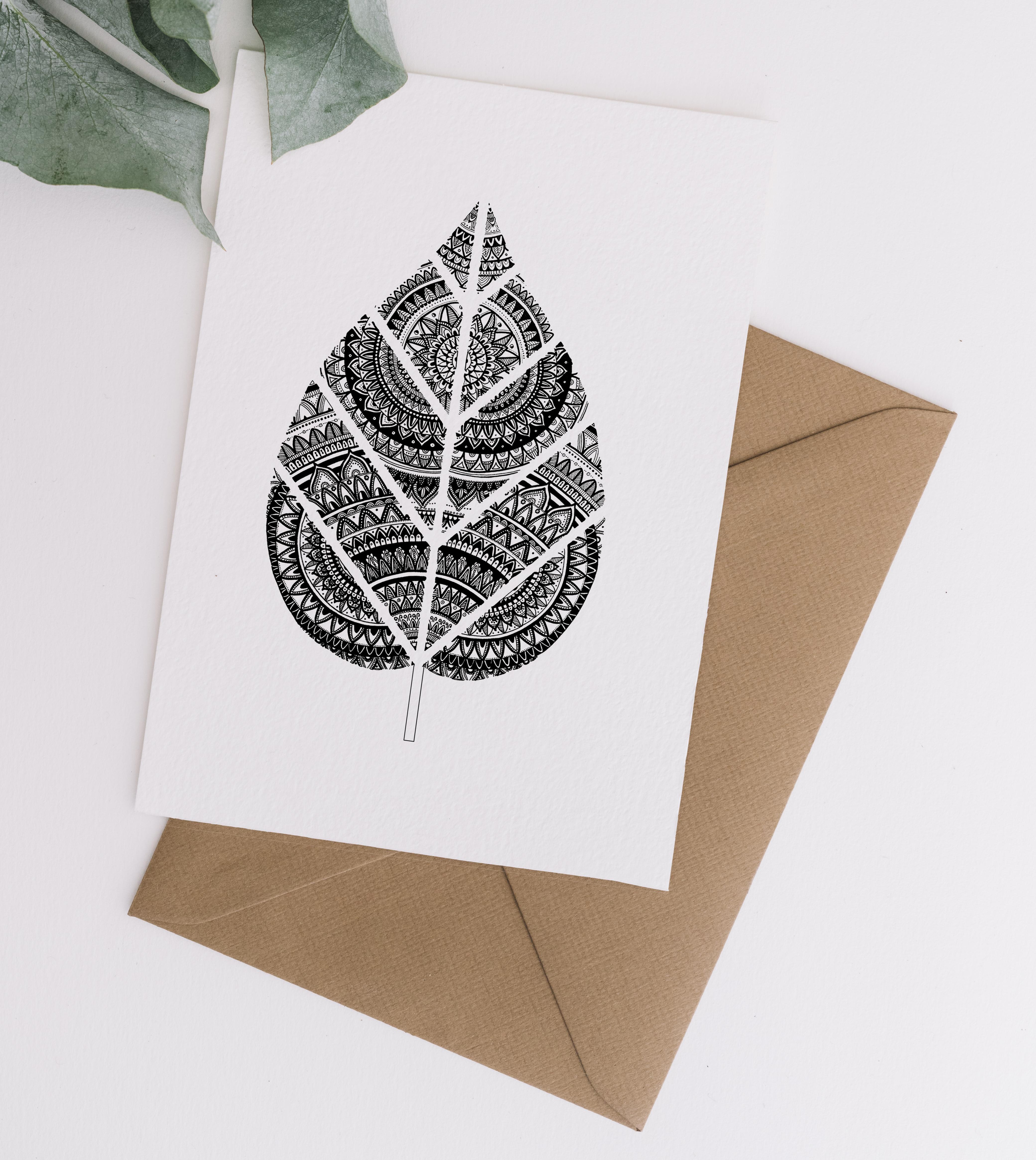 Card & Envelope Leaf