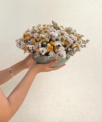 סידור פרחים Heaven בקערת קרמיקה