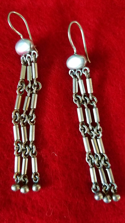 Sterling Link Earrings