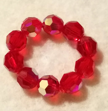 Crystal Ring Red