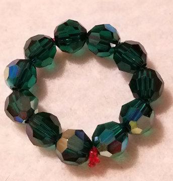 Crystal Ring Green