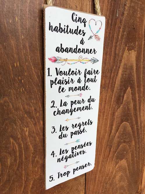 PS5X12016 - Cinq Habitudes à Abandonnes