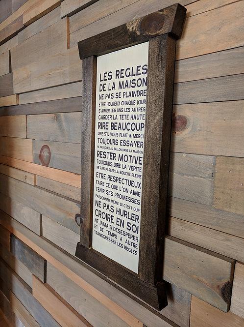 Cadre étroit - Les règles de la maison...