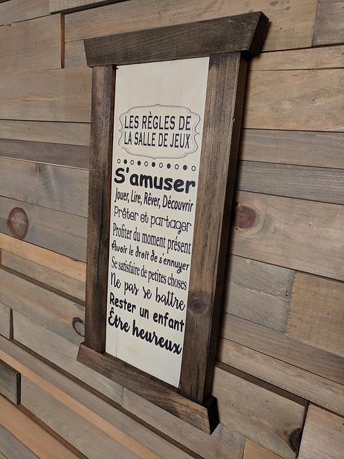 Cadre étroit - Les règles de la salle...