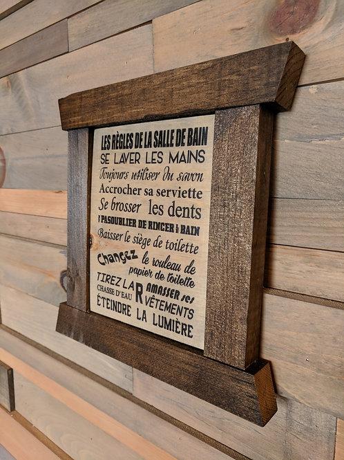 Cadre mini - Les règles de la salle de bain...