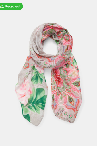 "Foulard ""flower valkiria rectangle"" Desigual"