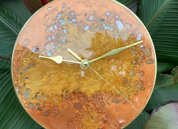 Copper/Brass Resin Clock