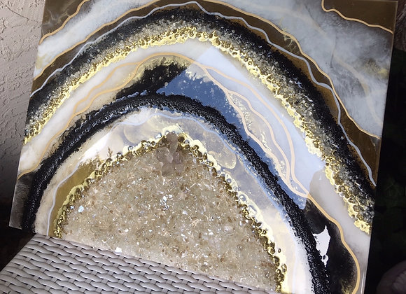 Geode Inspired Painting