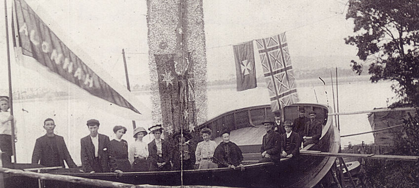 The launch of ss Alonnah, 1911
