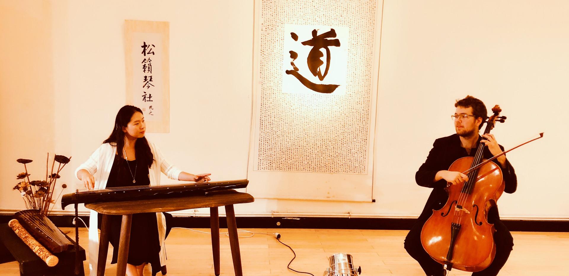 Concert Le dialogue entre le guqin et le violoncelle aux Temps du corp