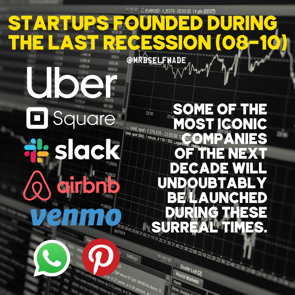 """Startups Founded During The Last Recession"""