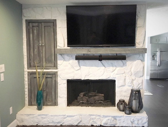 Old stone Fireplace? Paint It!