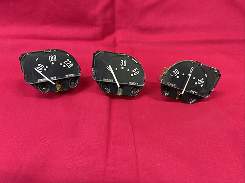 1955 - 58 Corvette Oil, Temp, and Battery Gauges