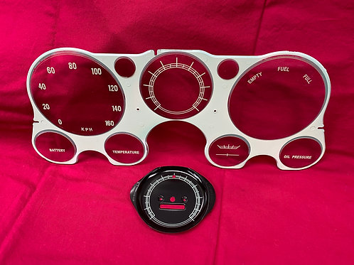 1968 - 1972 Chevy Truck KLM Lens and Speedo Face Plate