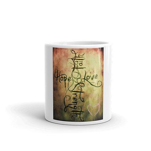 Faith-Hope-Love-Strength-Java Mug