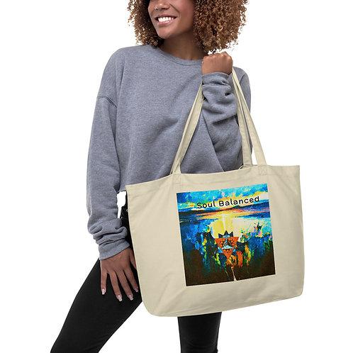 Soul Balanced-Large ORGANIC Tote Bag