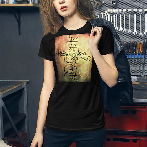 Faith-Hope-Love-Strength-Women's Slim Fit t-shirt