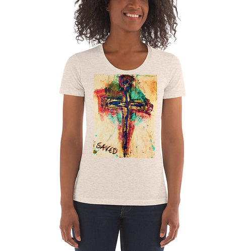 Saved-Women's Crew Neck fitted t-shirt