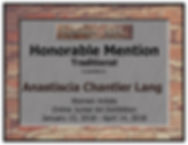 Anastiscia Chantler Lang Certificate - W