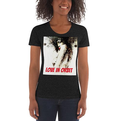 Love in Orbit-Around the Stars- Women's Tri-Blend Fitted t-shirt |
