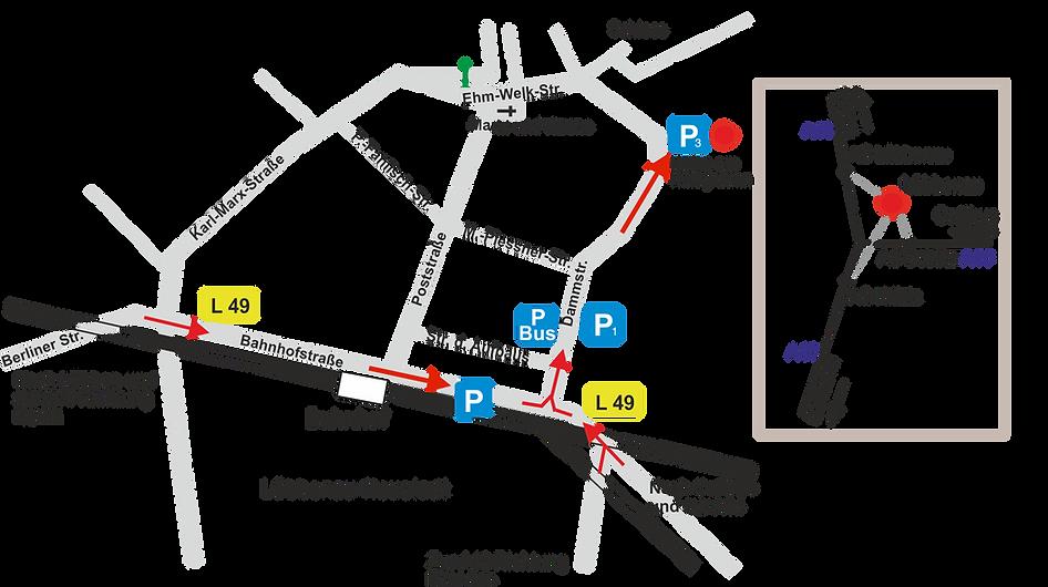 Stadtplan Lübbenau