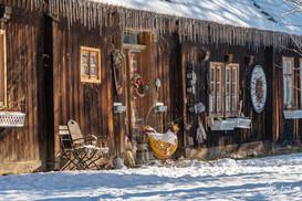 Winterliche Idylle in Lehde