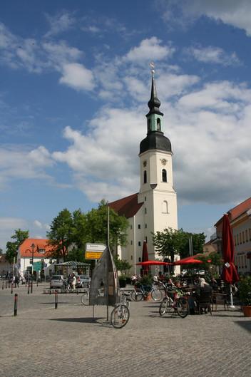 der Marktplatz in der historischen Altstadt Lübbenau